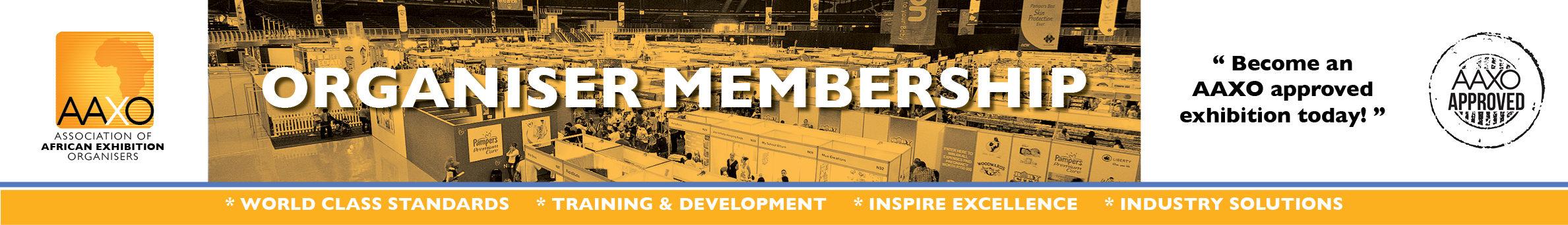 AAXO Organiser membership